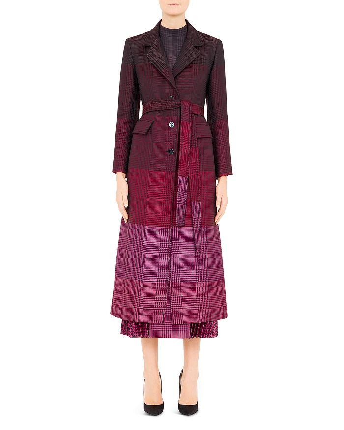 Mary Katrantzou - Beatrice Plaid Virgin Wool-Blend Coat