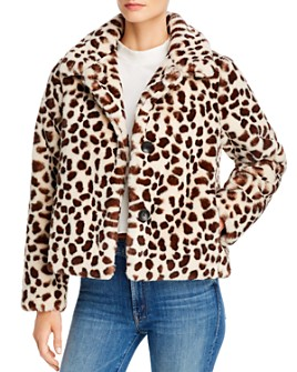MOTHER - The Ride-A-Long Faux Fur Jacket
