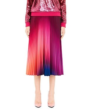 Mary Katrantzou Skirts Uni Pleated Ombré Midi Skirt