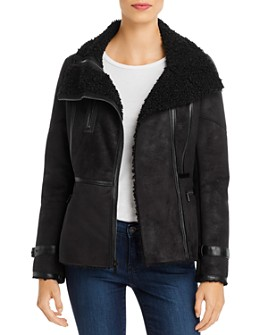 Calvin Klein - Faux-Shearling Moto Jacket