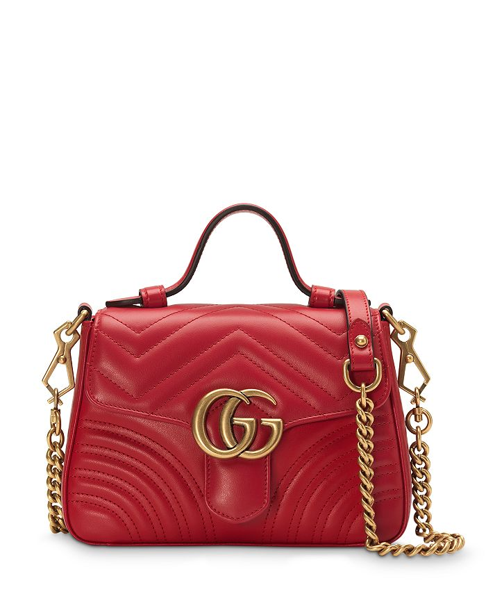 Gucci - GG Marmont Mini Top Handle Leather Bag