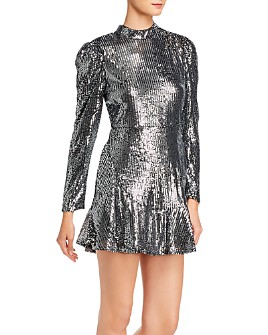 Rahi - Sophie Sequined Puff-Sleeve Dress