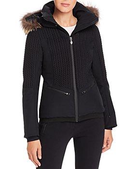 Post Card - Crows Fur-Trim Down Coat