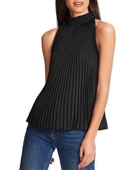 1.STATE - Pleated Mock-Neck Tank