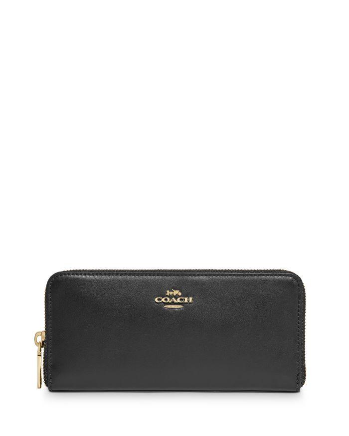 COACH Slim Zip-Around Leather Wallet  | Bloomingdale's