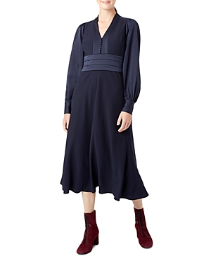 Hobbs London Josephine Blouson-Sleeve Dress
