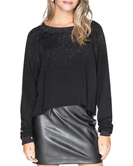 CHRLDR - Glitz Cropped Fleece Sweatshirt