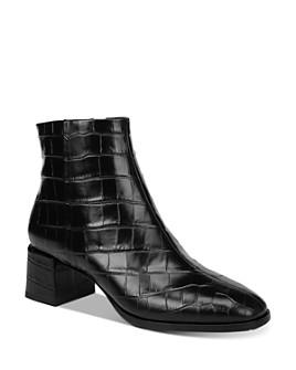 Via Spiga - Women's Sahira Croc-Embossed Booties