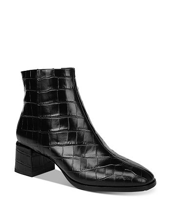 Via Spiga - Women's Sahira Croc-Embossed Booties