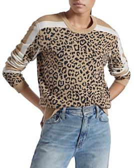 Current/Elliott - The Duvall Leopard-Pattern Sweater