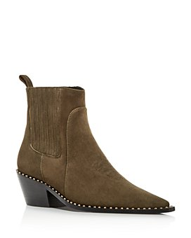 Anine Bing - Women's Harris Studded Pointed-Toe Booties
