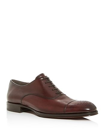 To Boot New York - Sprague Leather Medallion Cap-Toe Oxfords
