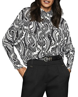 REISS - Fion Paisley Collared Pullover Blouse - 100% Exclusive