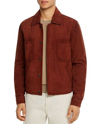 7 For All Mankind - Suede Regular Fit Trucker Jacket