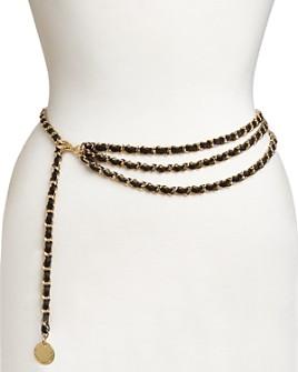 B-low the Belt - Women's Giselle Mini Woven Chain Belt