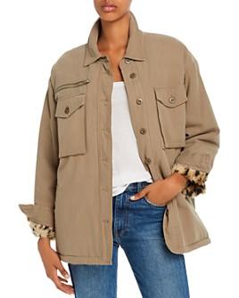 Vintage Havana - Faux-Fur Lined Utility Jacket