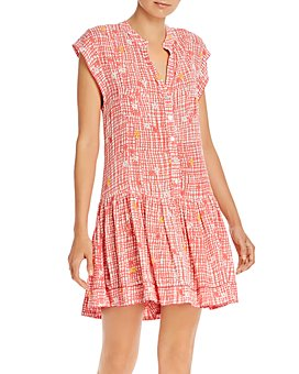 Poupette St. Barth - Amora Drop-Waist Printed Shift Dress