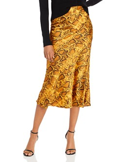BB DAKOTA - Slip My Mind Snake Print Skirt