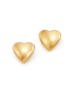 Bloomingdale's Heart Stud Earrings in 14K Yellow Gold - 100% Exclusive