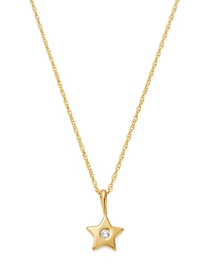 Diamond Star Pendant Necklace in 14K Yellow Gold