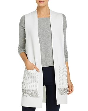 Kobi Halperin Sweaters ASHTON BEADED FRINGE SWEATER VEST