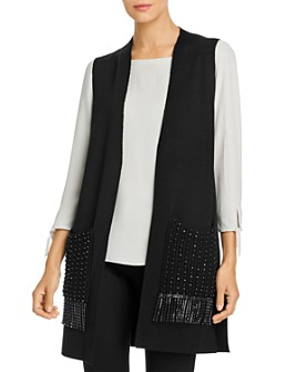 Kobi Halperin - Ashton Beaded Fringe Sweater Vest