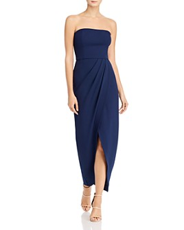 WAYF - Angelique Strapless Tulip-Hem Dress