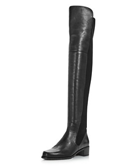 Stuart Weitzman - Women's Lynelle Leather & Neoprene Over-the-Knee Boots