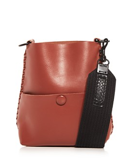 Callista - Grace Slim Leather Mini Messenger Bag