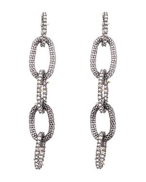 Interlocking Link Drop Earrings