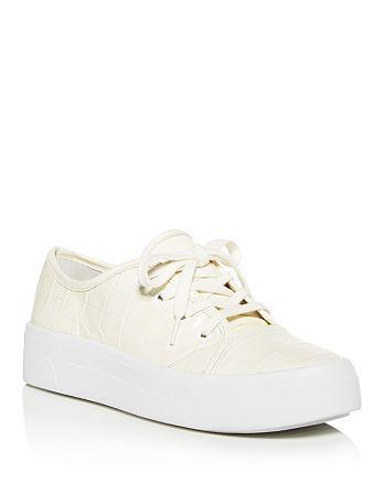 Via Spiga - Women's Viola Croc-Embossed Low-Top Sneakers