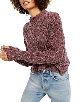 Free People - Merry Go Round Cable-Knit Sweater