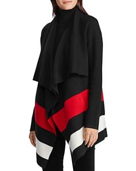 Ralph Lauren - Wool Cascading Open Cardigan