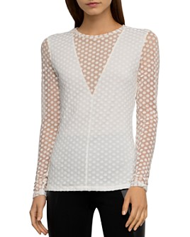 BCBGMAXAZRIA - Polka Dot Burnout Top