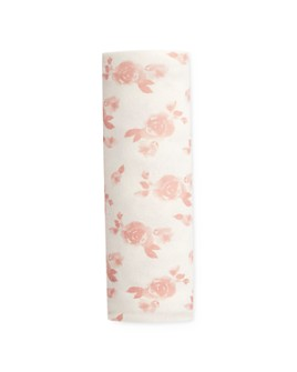 Aden and Anais - Girls' Rose Print Snuggle Knit Swaddle Blanket - Baby