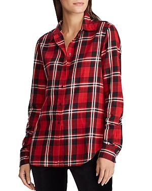 Ralph Lauren T-shirts LAUREN RALPH LAUREN PLAID BUTTON-FRONT SHIRT