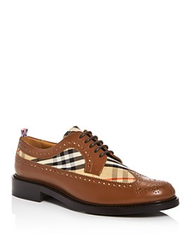 Burberry - Men's Arndale Vintage Check Wingtip Oxfords