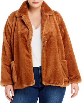 B Collection by Bobeau Curvy - Twiggy Faux-Fur Jacket