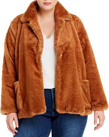 B Collection by Bobeau Curvy - Twiggy Faux-Fur Jacket