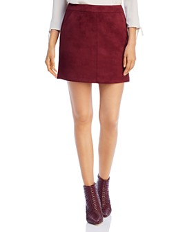 Vero Moda - Faux-Suede Mini Skirt