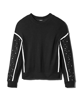 Monrow - Supersoft Star-Sleeve Sweatshirt