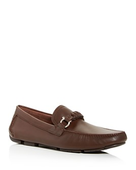 Salvatore Ferragamo - Men's Stuart Braided Leather Moc-Toe Drivers