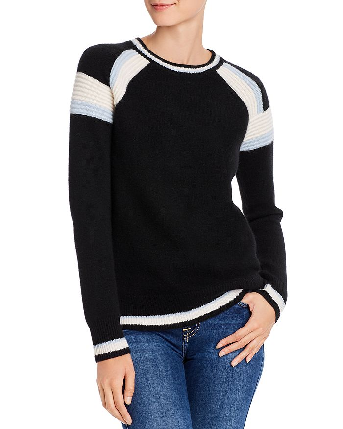 C by Bloomingdale's - Textured-Stripe Cashmere Sweater - 100% Exclusive