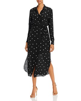 Theory - Silk Polka Dot Shirtdress