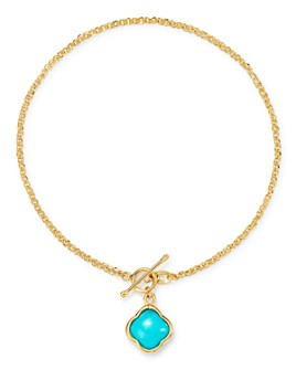 Bloomingdale's - Turquoise Clover Bracelet in 14K Yellow Gold - 100% Exclusive