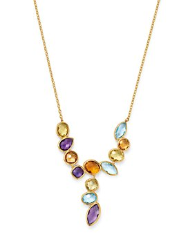 """Bloomingdale's - Rainbow Gemstone Pendant Necklace in 14K Yellow Gold, 18"""" - 100% Exclusive"""