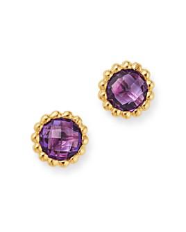 Bloomingdale's - Amethyst Beaded Stud Earrings in 14K Yellow Gold - 100% Exclusive