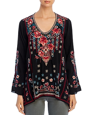 Johnny Was Tops DULCI EMBROIDERED TOP