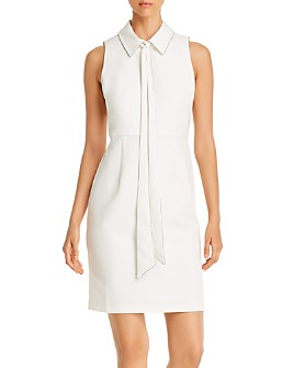 T Tahari - Tie-Neck Sheath Dress