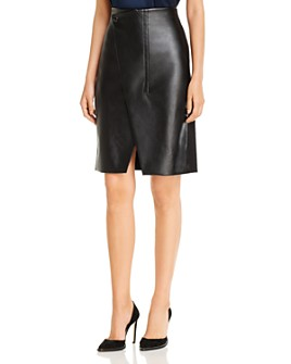 Elie Tahari - Jade Faux-Leather Pencil Skirt